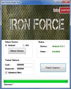 Iron Force Hack Tool Cheats Engine No Survey Free Download