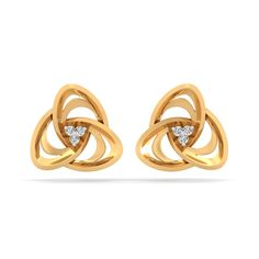 Rs Diamond Earrings in Yellow Gold with 6 pcs, carats I-J SI diamonds, certified by IGI - International Gemological Institute. Also, available in other colors and diamond qualities, please contact our jewellery consultants for details. Infinity Earrings, Diamond Earrings, Best Gifts For Mom, Diamonds, Jewels, Jewellery, Yellow, Detail, Colors