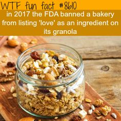 FDA bans a bakery from using love as an ingredient - WTF fun facts