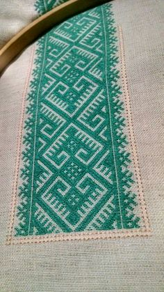 Ribbon Embroidery, Cross Stitch Embroidery, Cross Stitch Patterns, Viking Art, Bargello, Filet Crochet, Traditional Outfits, Color Patterns, Couture