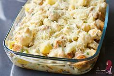 Bloemkool ovenschotel met kip - WayMadi Healthy Chicken Dinner, Potato Salad, Mashed Potatoes, Macaroni And Cheese, Spaghetti, Veggies, Food And Drink, Homemade, Vegan