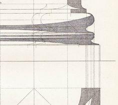 Ionic Base Shadow Study  Vignola Architecture Drawing