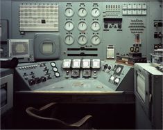 B Reactor Control Console, Source of Nagasaki Bomb Plutonium, Hanford Nuclear Reservation, WA 1944