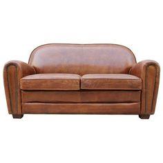 Pasargad Paris Club Genuine Leather Loveseat