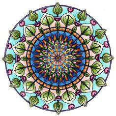 Leafy Mandala by Artwyrd.deviantart.com on @deviantART
