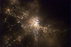 Boston at night from the International Space Station