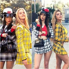 bff halloween costumes 33 Halloween Friend Costumes For Sweet Girls Fr se Mdchen Clueless Halloween Costume, Teenage Halloween Costumes, Costumes For Women, 90s Costume, Cher Clueless Costume, Partner Halloween Costumes, Blonde Halloween Costumes, Best Friend Halloween Costumes, Diy Halloween