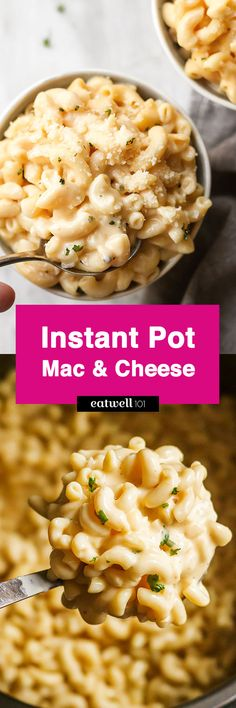 Instant Pot mac and cheese —Pure deliciousness, comfort and pleasure! Comfort food at its best for an instant dinner!