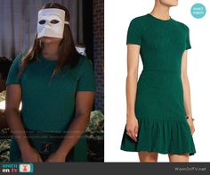 Mindy's green short sleeved dress on The Mindy Project.  Outfit Details: https://wornontv.net/57614/ #TheMindyProject  Buy it at The Outnet: http://wornon.tv/36060