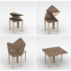 Origami table for John Lewis by Yifei Chai, via Behance