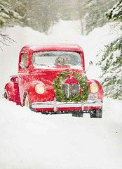 Old truck Christmas Card