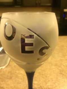 OES wine glasses in Star Point colors by OESINSPIRED on Etsy