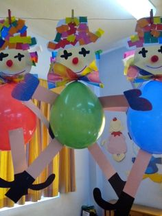 Clown craft idea for kids Paper plate and plastic plate clown craft ideas Paper clown crafts Clown wall decorations for classroom Foam clown craft ideas Balloon clown craft idea for preschoolers Kids Crafts, Clown Crafts, Circus Crafts, Carnival Crafts, Preschool Crafts, Diy And Crafts, Paper Crafts, Clown Party, Circus Theme Party