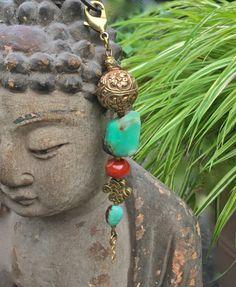 Gemstone Unique Boho Chic Keychain Purse Car Beads by MinedStars