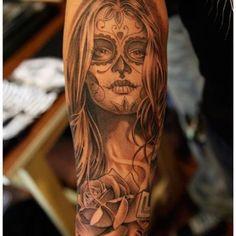 Dia De Los Muertos Tattoo ..... I think this will be my next piece!