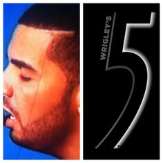 Drakes hairline! Too funny haha