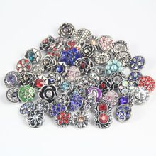 100pcs/lot new style silver plated flower rhinestone 12mm snap button jewelry for ginger leather bracelets free shipping