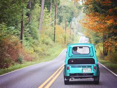 Cruising with our little 1970 Subaru 360 Truck. Vintage Love