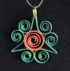 Quilled paper necklace by The Paper Conservatory