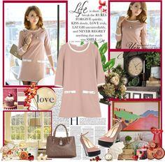 """PINK DRESS"" by bodangela ❤ liked on Polyvore"