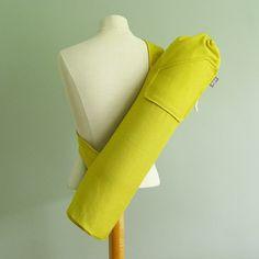 Yoga Bag. Gift for Yogi. Yellow Yoga Mat Bag. by effiehandmade
