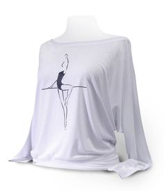 Dolman Long Sleeve Dance Top Passé To Retiré by designer4dance Great with leotard, pointe shoes, warm-up at barre. Size: AS