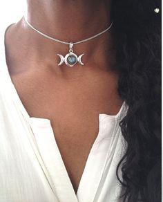 Silver Choker/ Silver Choker Necklace/ by AVBohoJewellery on Etsy