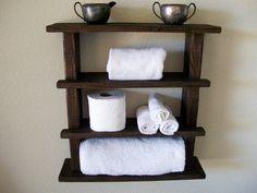 Bathroom Towel Shelf Toilet Paper Holder Bathroom by TheVineyards