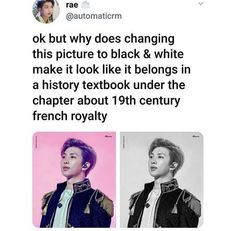 BTS RM fresh off textbook about french royalty Jimin, Kookie Bts, Rapmon, Namjoon, Bts Tweet, Bts Rap Monster, About Bts, Bts Pictures, Bts Boys