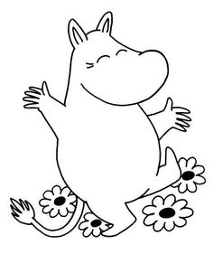 Moomin colouring pictures for activity?