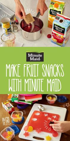 Fruit snacks taste better with a homemade touch. Try this fun activity with your kids to make a sweet treat for after school.