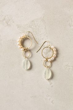 Crested Pearl Earrings