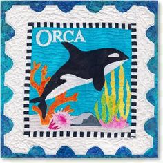 OrcaSealife appliqué quilt patterns designed by Debra Gabel Of Zebra Patterns.com# quilting #appliqué
