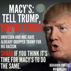 Dump the Chump Trump!!! #Macys