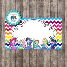 INSTANT DOWNLOAD- My Little Pony Equestria Girls Rainbow Food Tents (Equestria Girls Party Pack) by IrrelephantDesigns on Etsy https://www.etsy.com/listing/230934822/instant-download-my-little-pony