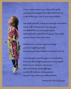 Native American Abenaki Prayer for Thanksgiving