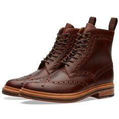 Grenson Fred Brogue Boot (Chestnut Pull Up)