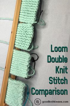 Loom : Compare six version of the stockinette stitch for double knit fabric on … – LamOscar GMBH – weberei Round Loom Knitting, Loom Knitting Stitches, Double Knitting Patterns, Knifty Knitter, Loom Knitting Projects, Loom Patterns, Stitch Patterns, Crochet Patterns, Tips