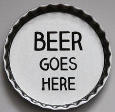 Tin Bottlecap Coasters Beer Goes Here Breweriana Drinks Man Cave Barware Crafts