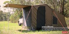 OZ Tent RV - tent goes up in 30 seconds Camping Set Up, Camping Stove, Camping Gear, Outdoor Camping, Outdoor Gear, Camping Outdoors, Hammock Tarp, Rv Tent, Us Deserts