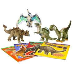 smithsonian prehistoric zone book set + plush dinosaurs