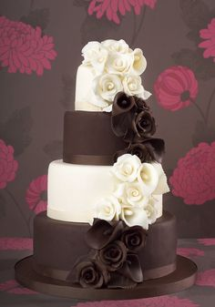 Cascading Rose and Lily Cake by Little Venice Cake Company