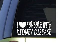 I Love Someone With Kidney Disease H957 8 Sticker Decal by EZStik