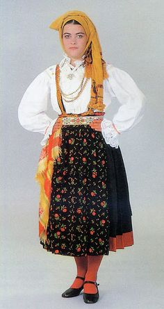 Island Krk, Croatia - Costume from the town of Vrh.