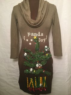 Panda Joy! Panda's decorate the #ChristmasTree on this party Dress! #ChineseChristmas #Panda #ChristmasinChina