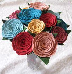 Felt rose bouquet