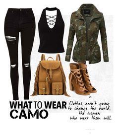 """""""what to wear"""" by avanigadhia on Polyvore featuring Miss Selfridge, LE3NO, Topshop, Gianvito Rossi, Yves Saint Laurent and camostyle"""