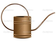 Copper watering can — Stock Vector © VIPDesignUSA #25449039
