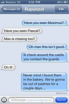 Tangled | 10 Texts From Disney Princesses To Their Princes