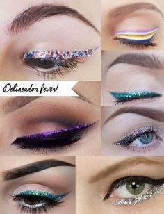 Maquiagem para o carnaval put on a happy face идеи макияжа, Glitter Eyeliner, Glitter Hair, Red Glitter, Glitter Makeup, Glitter Uggs, Glitter Slime, Glitter Party, Glitter Dress, Sparkles Glitter